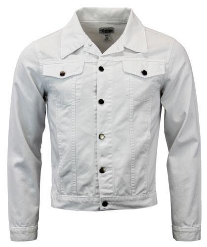 White Denim Mod Jean Jacket by Madcap England