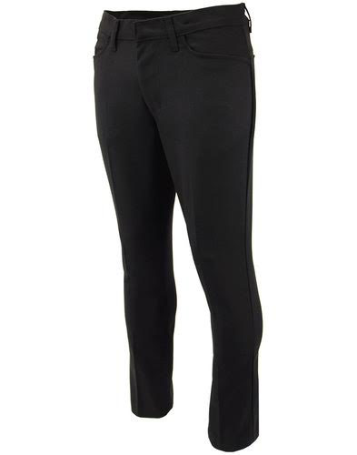 Logan Hopsack Slim Mod Trousers from Madcap England  - in BLACK - SALE sz 38 only
