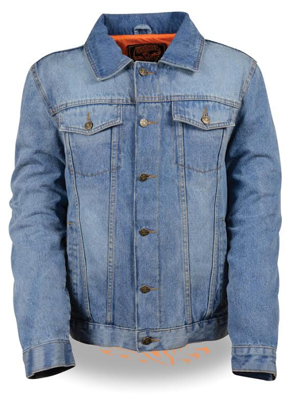 Denim Jacket by Milwaukee Leather- Blue