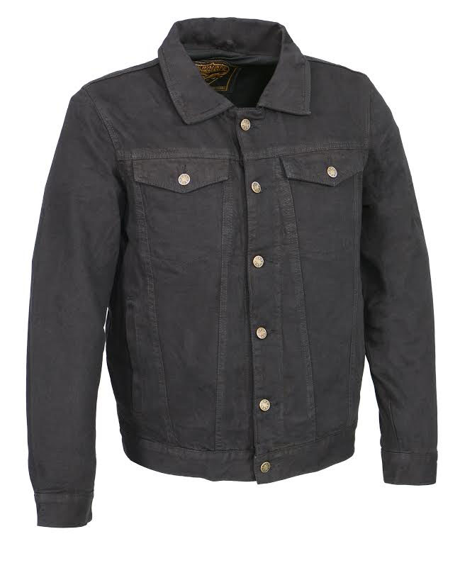 Denim Jacket by Milwaukee Leather- Black