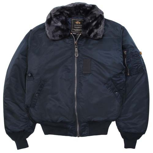 B-15 Flight Jacket by Alpha Industries- REPLICA BLUE (Sale price!)