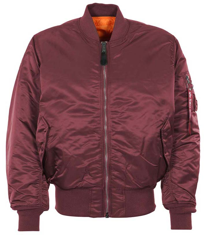 MA-1 Flight Jacket by Alpha Industries- MAROON (Sale price!)