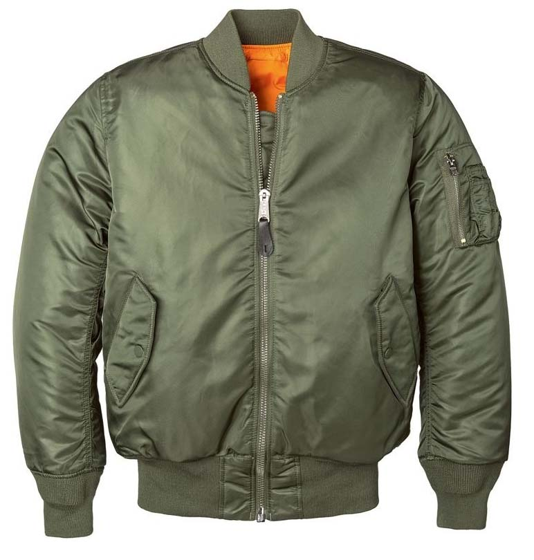 MA-1 Flight Jacket by Alpha Industries- SAGE GREEN (Sale price!)