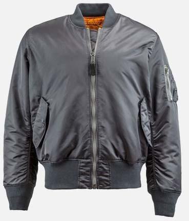 MA-1 Flight Jacket by Alpha Industries- GUNMETAL GREY (Sale price!)
