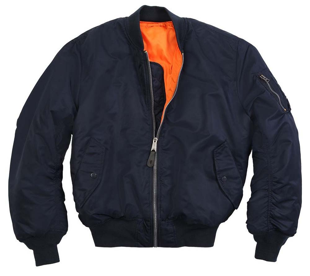 MA-1 Flight Jacket by Alpha Industries- REPLICA BLUE (Sale price!)