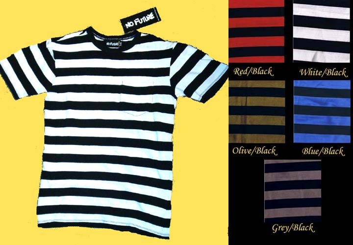 Riff Randall Guys Striped Short Sleeve Shirt by No Future (Sale price!)