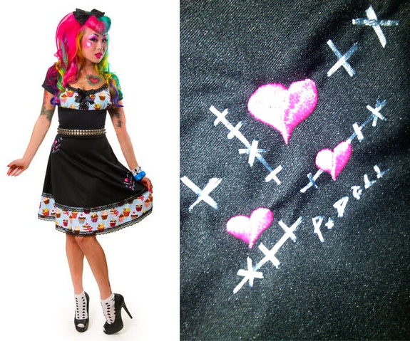 Sew What Cupcake Dress By Paper Doll - Blue www.angryyoungand
