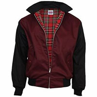 Harrington Jacket by Relco London- Burgundy & Black