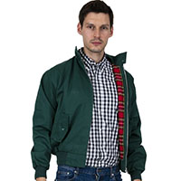 Harrington Jacket by Relco London- BOTTLE GREEN - sz M only