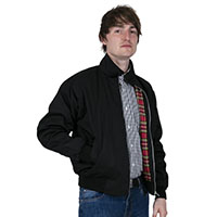 Harrington Jacket by Relco London- BLACK