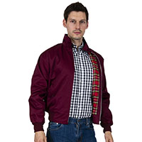 Harrington Jacket by Relco London- BURGUNDY
