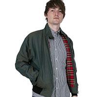 Harrington Jacket by Relco London- TONIC GREEN