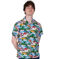 Hawaiian Camper & Beetle Shirt By Relco London