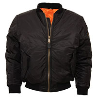 MA-1 Flight Jacket by Relco London- BLACK