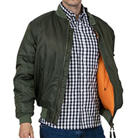 MA-1 Flight Jacket by Relco London- OLIVE