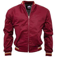 Monkey Jacket by Relco London- BURGUNDY (Made In England)