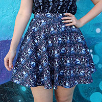 Foxes Skater Skirt by Retrolicious