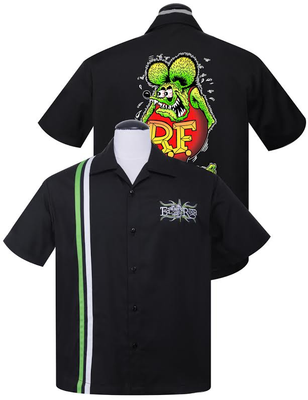 Rat Fink Roth Racer Button Up Shirt by Steady Clothing
