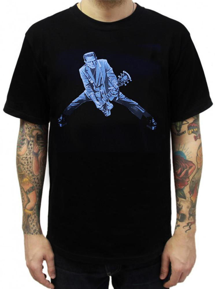 Rock N Roll Monster guys slim fit shirt by Low Brow Art Company - artist Mike Bell