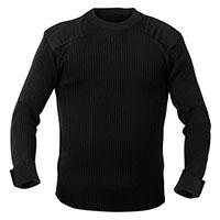 G.I. Style Acrylic Commando Sweater by Rothco- Black
