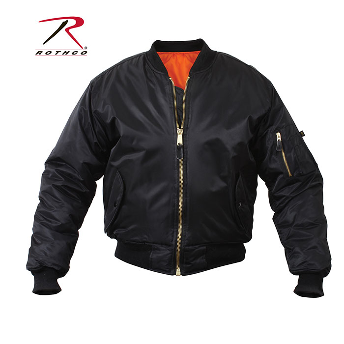 MA-1 Flight Jacket by Rothco- BLACK