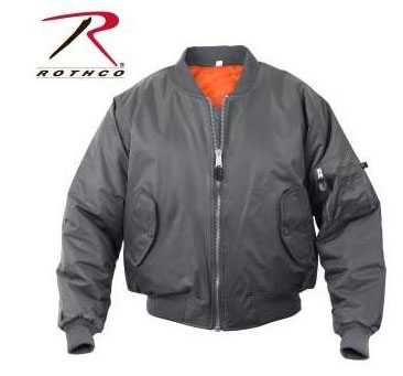 MA-1 Flight Jacket by Rothco- GUNMETAL GREY
