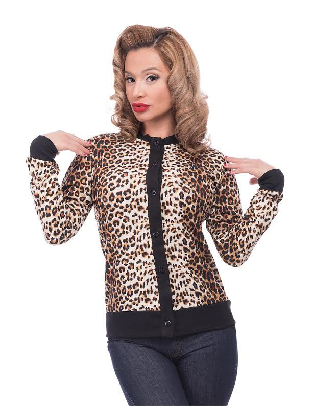 Long Cat Cardigan by Steady Clothing - in Leopard - SALE