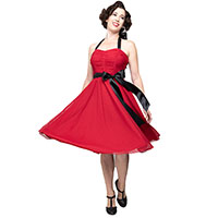 Follow Your Heart Strapless 50's Dress By Steady Clothing - in Red