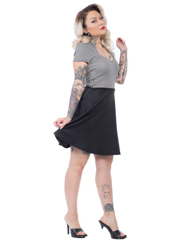 All Angles Dress By Steady Clothing - in Houndstooth - SALE sz 1X only
