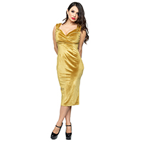 Velvet Diva Wiggle Dress By Steady Clothing - Hollywood Solid Gold