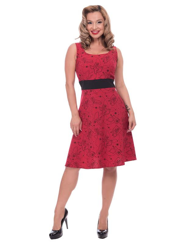 Pinup State Dress By Steady Clothing - in Red - SALE