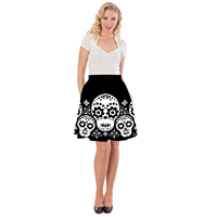 Dia De Los Muertos Skirt By Steady Clothing - SALE sz S & 1x only