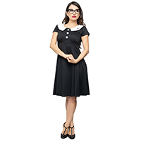 Coalette Black Widow Spider Collar Dress by Steady Clothing