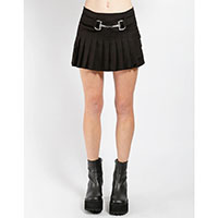 Clasp Pleated Mini Kilt Skirt by Tripp NYC