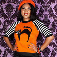 Scaredy Cat Mid Mod Sweater by The Oblong Box Shop