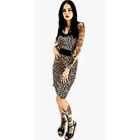 Love Darling Dress by Switchblade Stiletto - Leopard Print