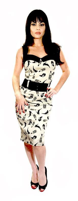 Love Darling Dress by Switchblade Stiletto - Whiskey Makes Me Frisky Print