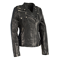 Ladies Double Zip Asymmetrical Motorcycle Jacket by Event Leather