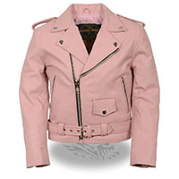Kids Motorcycle Jacket by Milwaukee Leather- Pink
