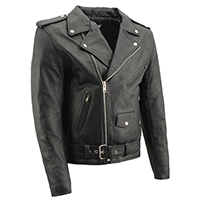 AYP Basic Motorcycle Jacket- BLACK leather