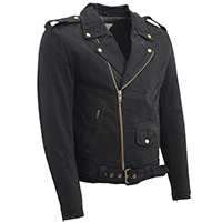 AYP Motorcycle Jacket- BLACK denim (Non-Leather)
