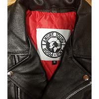 AYP Premium Motorcycle Jacket- BLACK leather (Red Liner)
