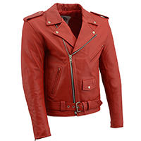 AYP Premium Motorcycle Jacket- RED leather