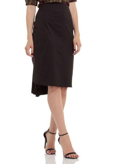 Elaine Back Pleated Skirt by Voodoo Vixen - in black - SALE