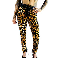 Leopard High Waisted Rebel Tie Pant by Switchblade Stiletto