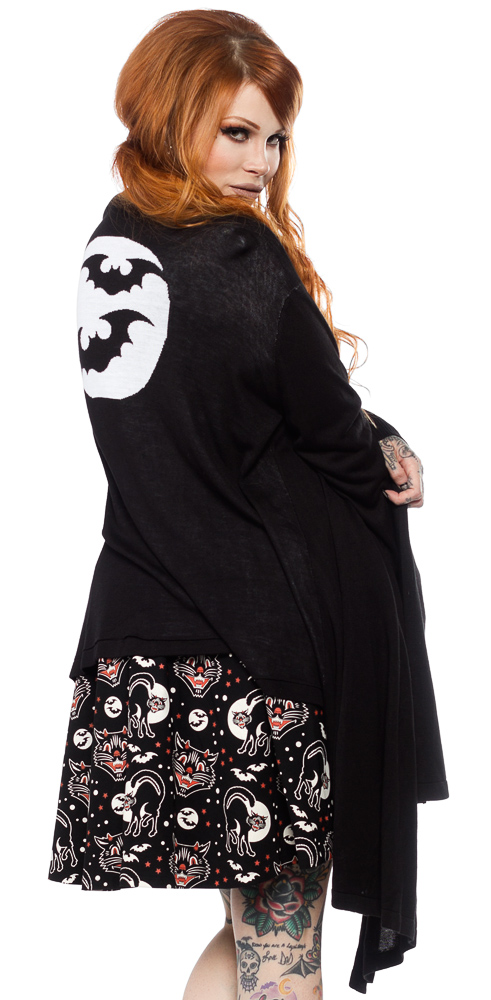 Bat Moon Draped Cardigan by Sourpuss - SALE