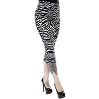 Sugar Pie Capris by Sourpuss - in White Zebra