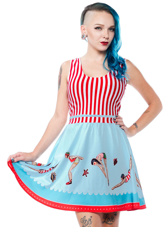 At The Shore Dress by Sourpuss - SALE