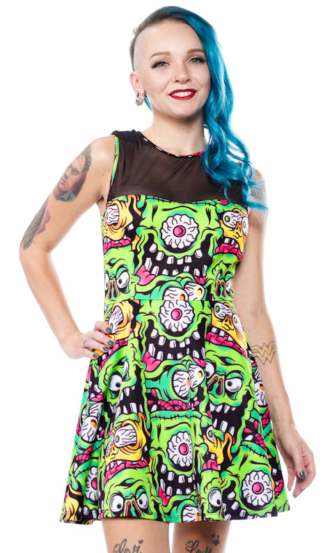 Fink Faces Mary Lu Dress by Sourpuss