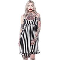 Hi-Lo Striped Dolly Dress by Sourpuss sz XL only
